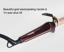 Professional hair curler ceramic tube Curling iron golden curly hair voltage 110v-240v