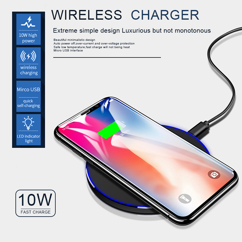 2020 Wireless quick charging for iphone x xs max wireless mobile phone charger with straight edge charge