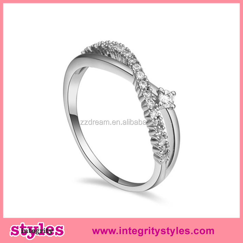 High Quality Aaa Zircon Trendy Sterns Wedding Rings Catalogue