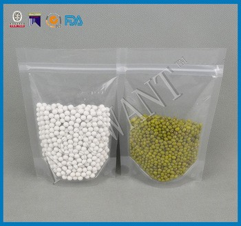 wholesale resealable plain plastic stand up pouch for peanuts/dry fruits/candies packaging