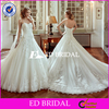New Collection Ivory Ball Gown Lace Appliqued Tulle Wedding Dress 2016