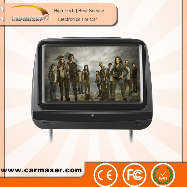 9'' 10'' 1080p touch screen car dvd player headrest cover