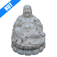 white porcelain laughing buddha white for sale