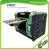 New design A3 size WER-E2000UV digital printer for any hard materials with eight colors bottle printer