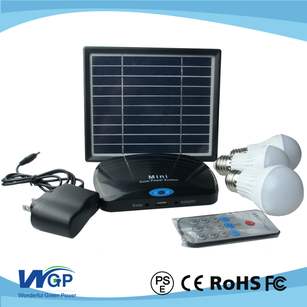 5V3w solar panel for Africa home lighting with solar bulbs indoor 3w led lights with battery station