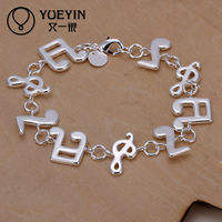 2014 wholesale silver musical notes charm pendant jewelry
