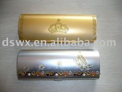 Hot selling Glittering spraying aluminum glasses case