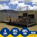 Ark Top Quality Good Price Long Lifespan Flatpack Prefabricated Steel Oil Field Restaurants