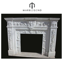 well polished natural wholesale italian stone fireplace mantel designs