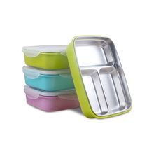 Heat resistant pp food storage container 304 stainless steel metal kids lunch box