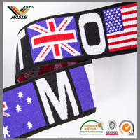 wholesale high density fashion durable garment country flag webbing