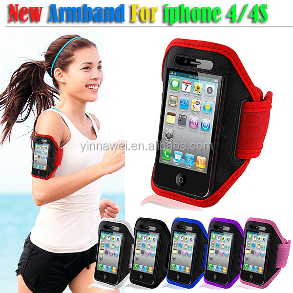 For iphone4 4s Newest Factory Price Neoprene Sports Armband case