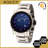 BOSCEN 2016 Geneva Luxury Whole Sale Top Brand Dive 316L Stainless Steel Japan Movt Quart Watches Chronograph WristWatches