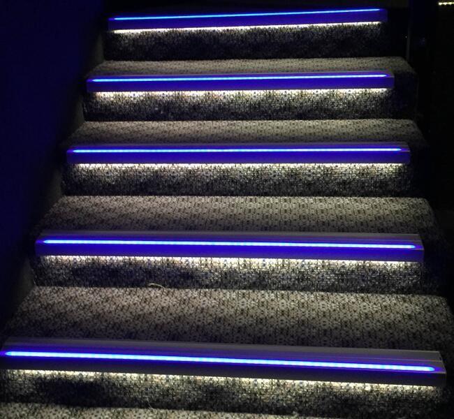 시어터 계단 장식 led 계단 디딤판 빛 시네마-기타 조명 및 조명 ...