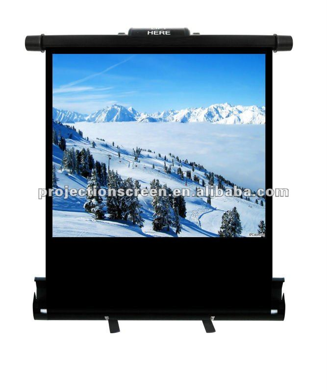 floor up manual projector screen