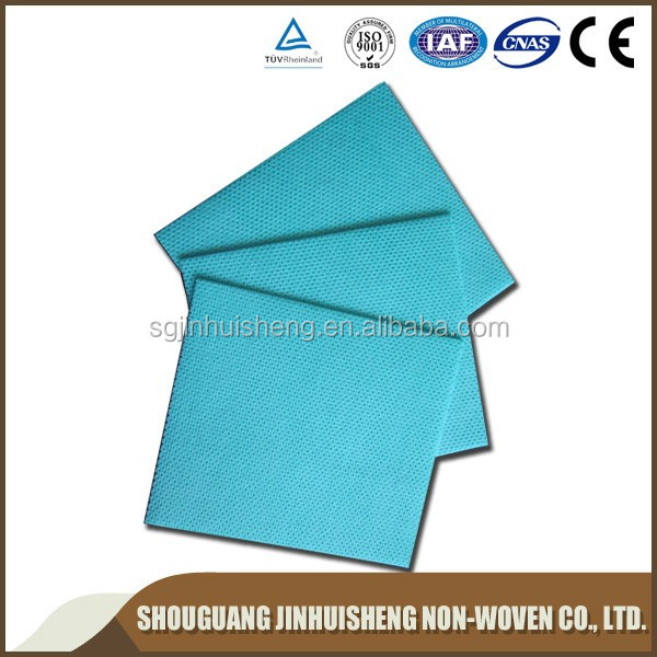 medical parallel lapping&cross lapped printing meshed 100% cotton nonwoven fabric