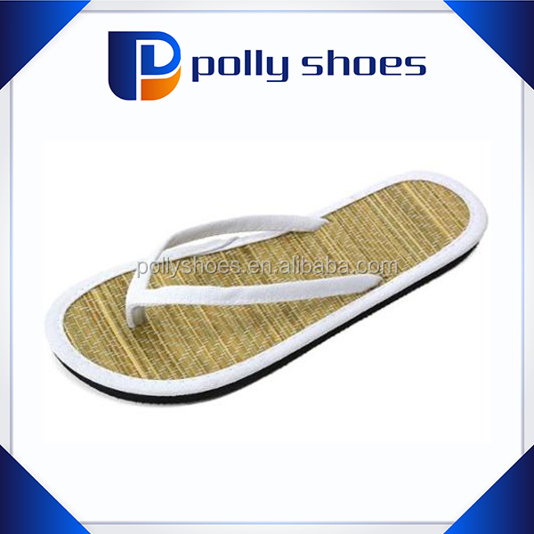 New Design various color Women Bamboo Slippers Shoes