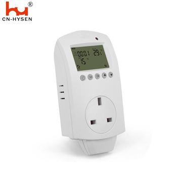 Hysen UK Digital sockets plug in thermostat for heating with LED indicator