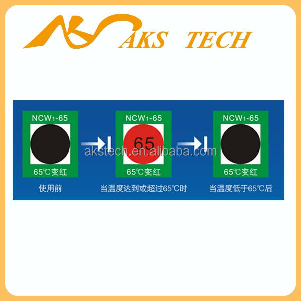 OEM Reversible industrial use Heat Sensitive Color Changing temperature stickers