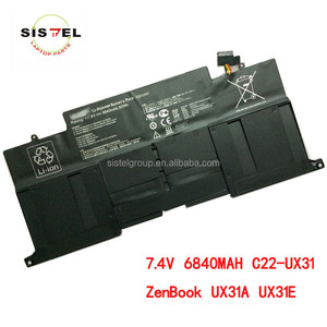 genuine original laptop battery for asus C22-UX31