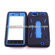 Mobile Phone Combo Case with kickStand For Motorola XT910 XT912 Droid Razr