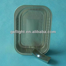 Strong designed smooth wall airline aluminum foil food container