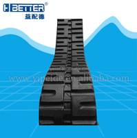 Small snow blower snowmobile rubber tracks