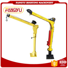 Mini Hydraulic swing lift pick up crane / electric engine mini crane