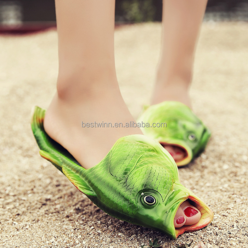 New Funny Design EVA Material Women Shoes Beach Fish Head <strong>Slipper</strong>