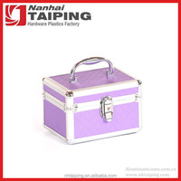 Purple Aluminum Makeup Case Latest Vanity Case Travel Vanity Cosmetic Case