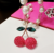 Fashion Crystal sweet Cherry Necklace