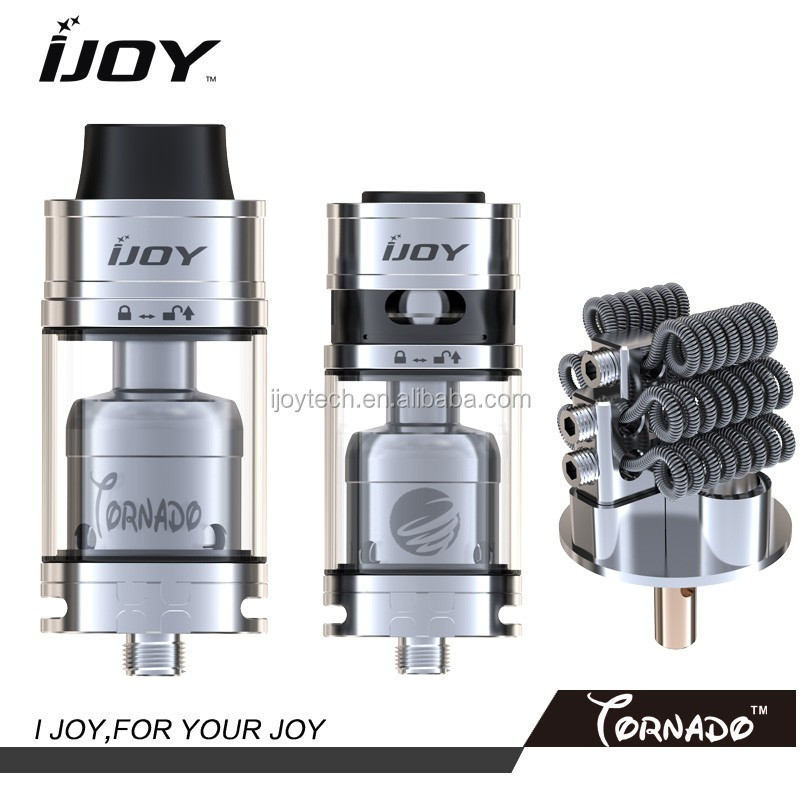 2016 April New arrival --IJOY Tornado RDTA Tank up to 300W recreating high powered RDA
