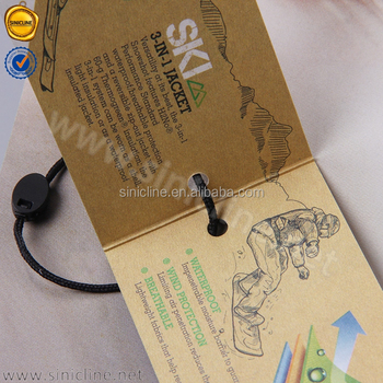 Sinicline 2017 hang tag fold over custom kraft hangtag