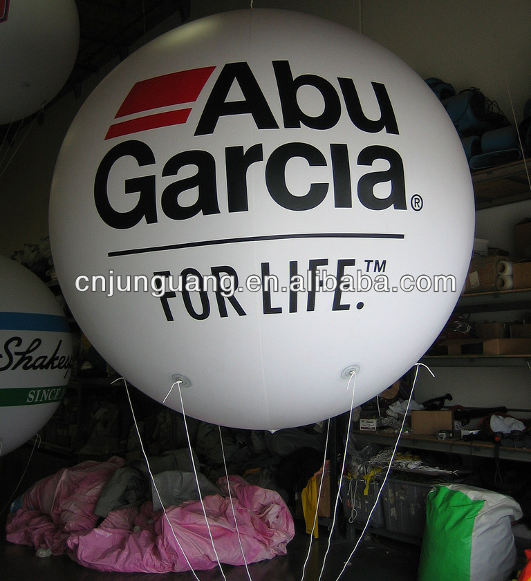 Advertising white giant balloon, printable balloon with Free logo printing