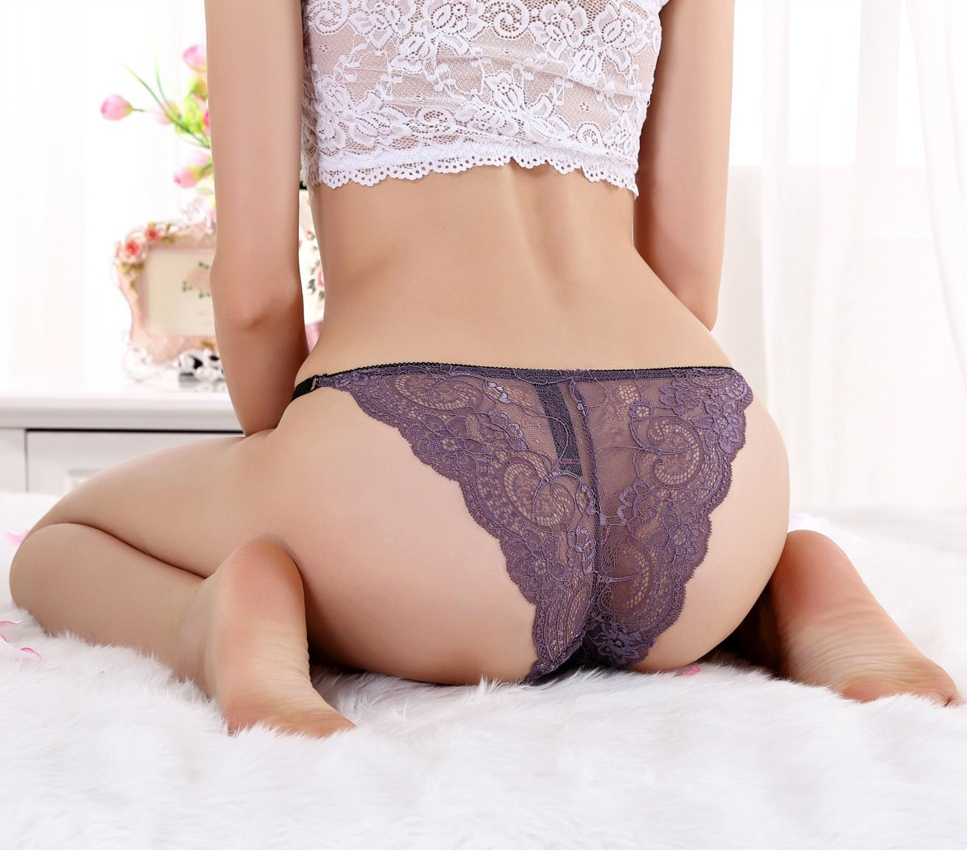 Wholesale Thong Sexy Ladies Transparent Lace G-string Women Underwear 9835