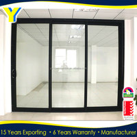 Three panel sliding glass door/ triple glazed stacker / aluminium stacker