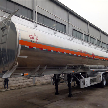 for hot sales 3 axle aluminum alloy semi-trailer oil chemical liquid transport truck