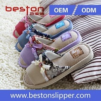 2015 latest design shining charming girls cheap slipper