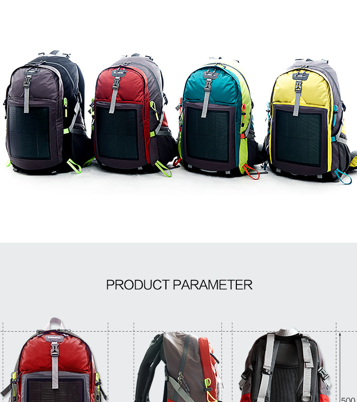 Hanergy 10.6W solar charging backpack for hiking and camping