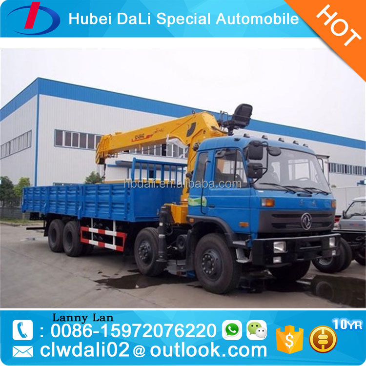 16 Ton Dongfeng hydraulic telescopic truck with crane