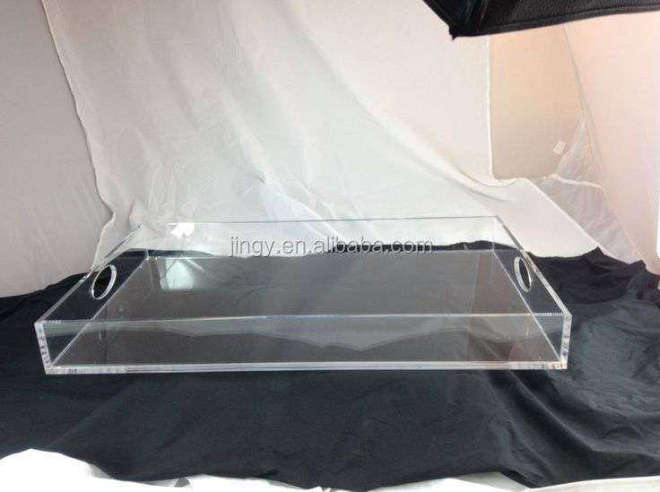 Rectangular customized clear acrylic candy tray