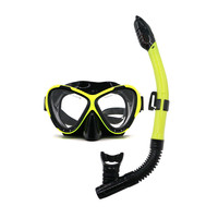 Deep sea water sport easy to breath snorkel and mask set