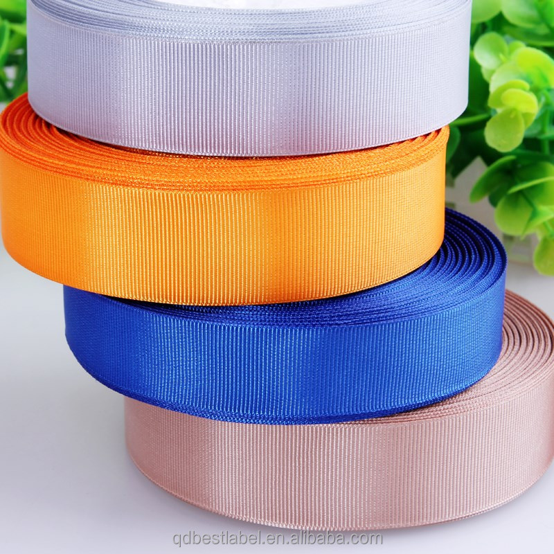 Wholesale factory custom cheap colorful polyester satin ribbon