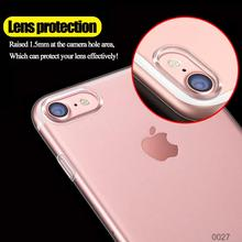 Transparent cell phone case for iphone 7 shockproof 2 in1 aiti fall moblie cover case for apple iphone 7