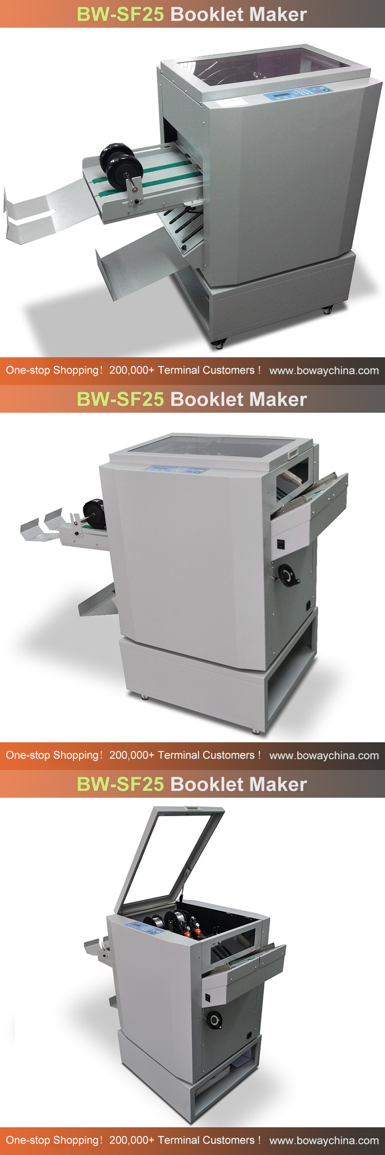 2000 books/hour Paper sheets Stitch Folder Booklet Making Machine