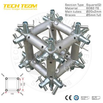 Box -M124 bolt truss box corner for 6-way/aluminum bolt truss box corner for minute truss.