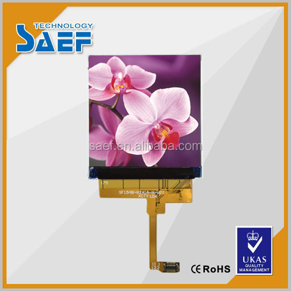 Lcd display 1.54 inch tft lcd module ALL Viewing Angle ST7789V ic and 24 pins lcd without touch panel
