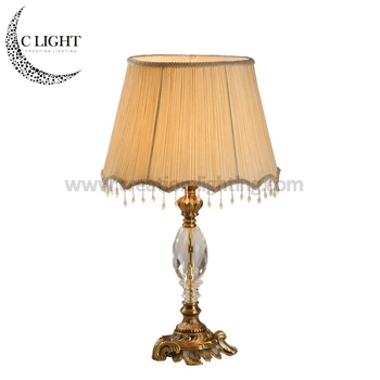 Aluminum Alloy With Crystal Study Table Lamp for Reading Room