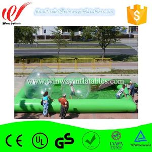 Rectangular kids water play equipment large inflatable swimming pool W8015