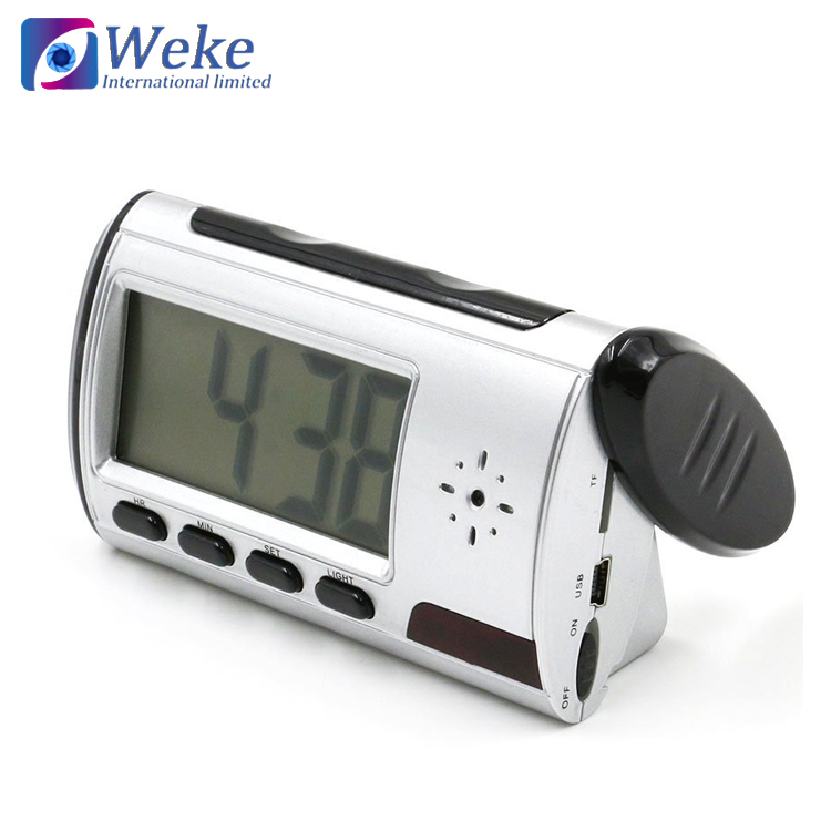china Fashion Table Clock Hidden Camera 1080P HD Wireless Spy Camera Smart Alarm Clock WiFi Video Recorder